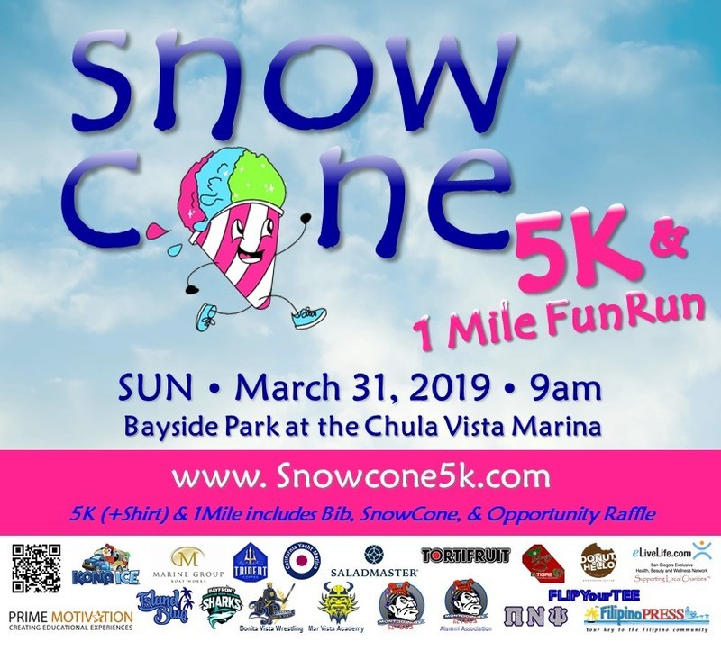 Snowcone 5k Chula Vista Ca 1 Mile 5k Fun Run