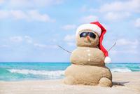 Winter Fun 5k, 10k, 15k, Half Marathon - Santa Monica, CA - sand-snowman.jpg