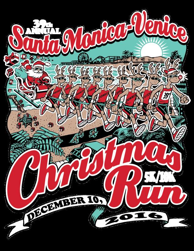 Christmas Run - Santa Monica, CA - 10k - 5k