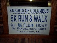 K of C 5K Run / Walk & 1 Mile Fun Walk For Local Food Pantries - Cass City, MI - race6418-logo.bCwiK8.png
