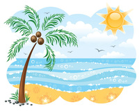 Beach Fun 5k, 10k, 15k, Half Marathon - Santa Monica, CA - Palm-tree-beach-clipart-free-clipart-images.jpg