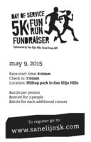 5K Fun Run Fundraiser and Day of Service - San Marcos, CA - FunRun.png