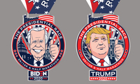 PRESIDENTIAL Race 5K/10K and Half Marathon - Los Angeles, CA - Trump_N_Biden_Medals_together_1.jpg