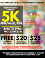 "BLESSINGS ON THE BLOCK COMMUNITY OUTREACH ""KEEP IT PUSHING"" VIRTUAL 5K RIDE/RUN/WALK - Harker Heights, TX - race107899-logo.bGpsKh.png"